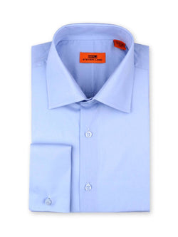 Steven Land Poplin Dress Shirt| Classic Fit | French Cuff | 100% Cotton | Color Light Blue