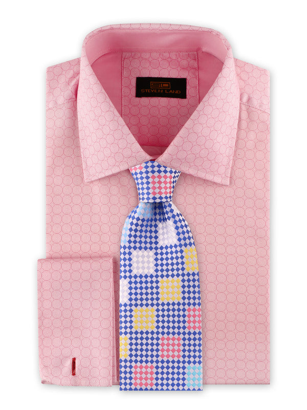 Steven Land | Swirl Geo Dress Shirt | Pink | DS2032