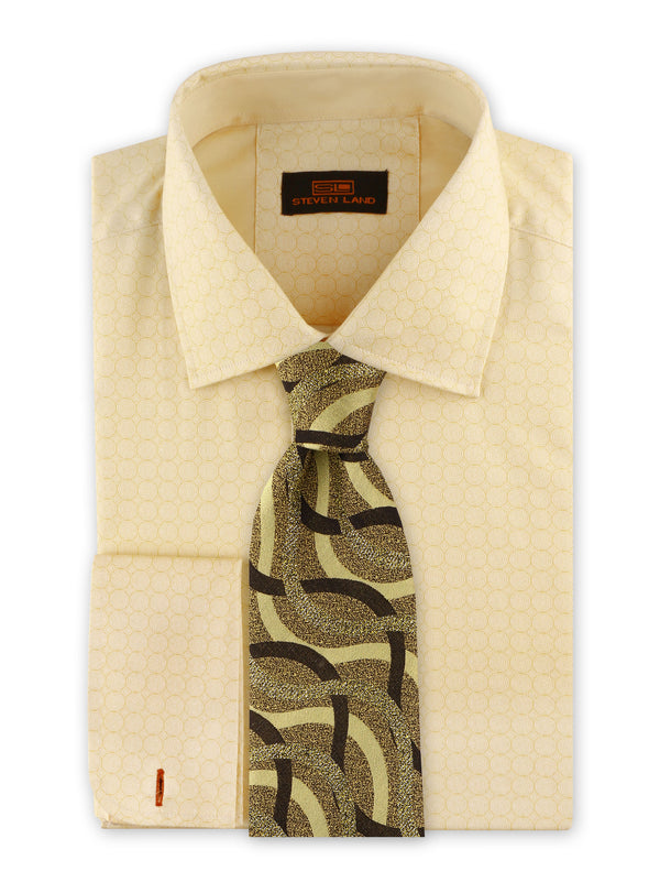 Steven Land | Swirl Geo Dress Shirt | Yellow | DS2032