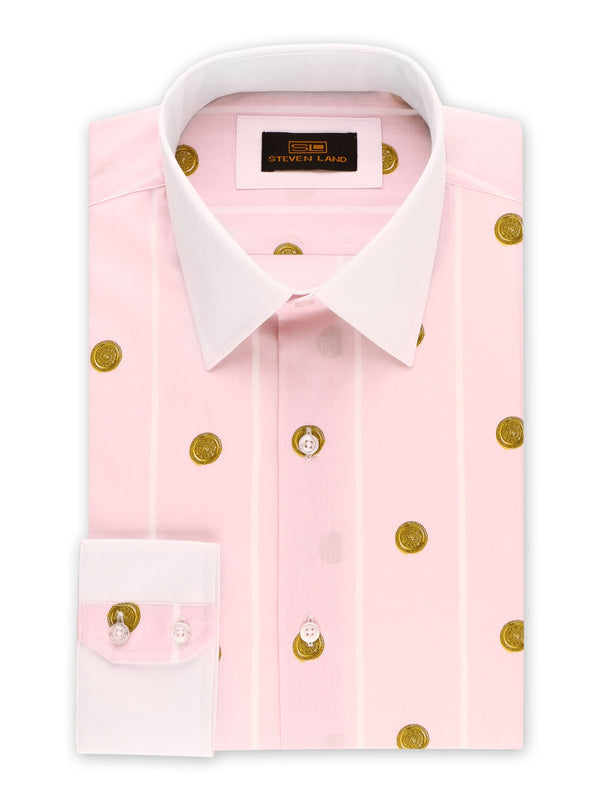 Steven Land | Greek Medallion Dress Shirt | Lavender