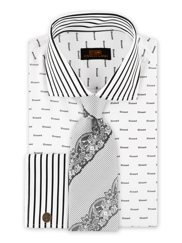 Steven Land | Blessed Stretch Dress Shirt | Black
