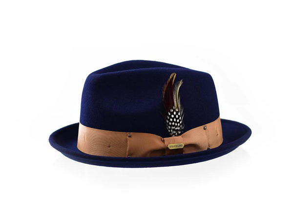 Steven Land Hats | Ayden Collection | %100 Wool | Navy