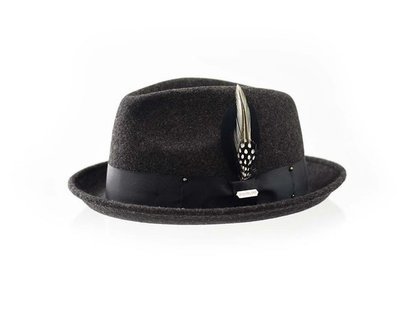 Steven Land Hats | Ayden Collection | %100 Wool | Charcoal Black