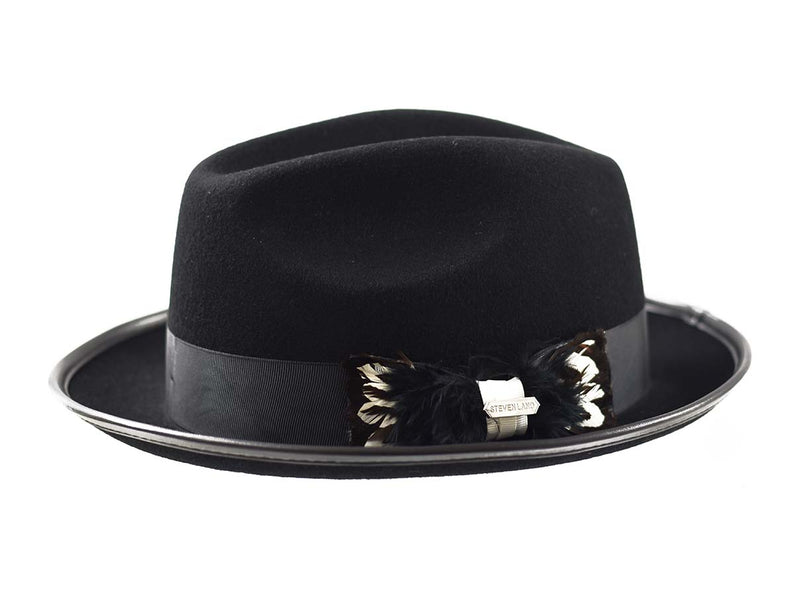 Steven Land Hats | Octavius Collection | 100% Wool | Black & White