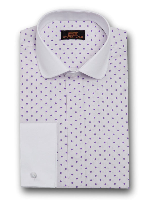 Dress Shirt | DW1708 | Classsic Fit | 100% Cotton | Club Collar | French Cuff | Amethyst