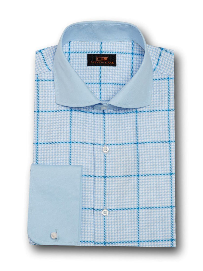 Steven Land | Graph Check Dress Shirt
