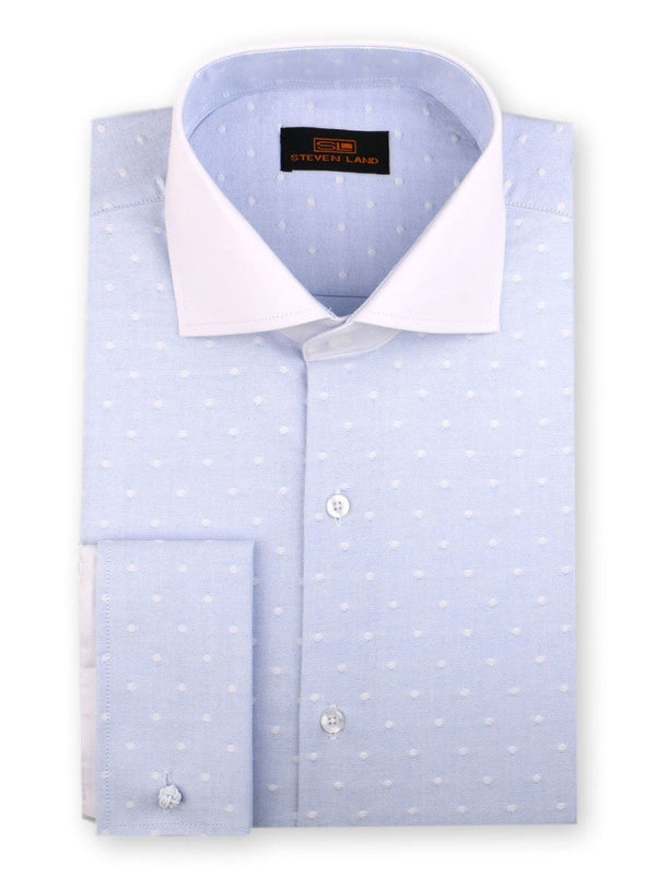 Steven Land | Raised Woven Dot Dress Shirt