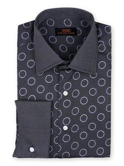 Dress Shirt | DW748 | Classic Fit | 100% Cotton | Spread Collar | French Novelty Cuff | Black