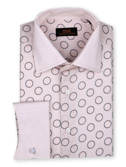 Dress Shirt | DW748 | Classic Fit | 100% Cotton | Spread Collar | French Novelty Cuff | Tan