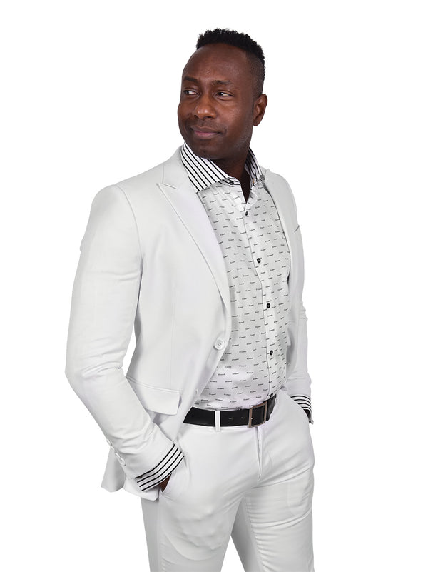 Steven Land | Dante | White 2 Piece Suit | Slim Fit | Blessed Collection