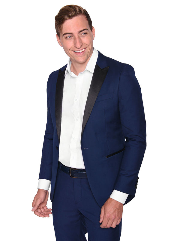 Steven Land | Dante | Slim Fit Navy Formal Tuxedo | Short and Tall Sizes