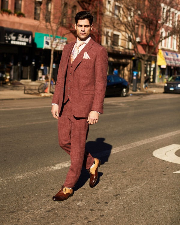 Steven Land | Duomo Auburn 3 Piece Suit | All Sizes