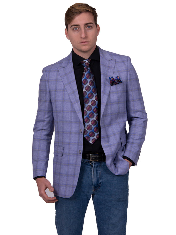 Steven Land | Etro Checker Plaid Blazer | Purple