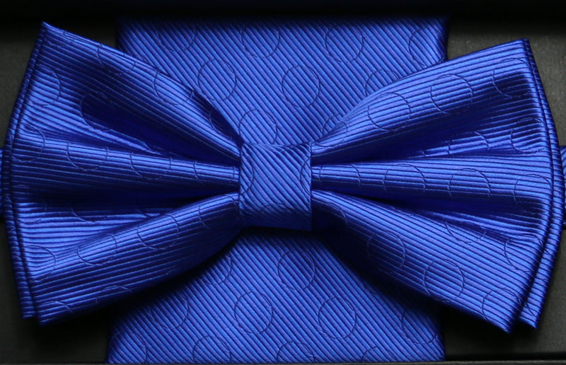 BTHD10 | Solid Textured Bow Ties and Hankey Set