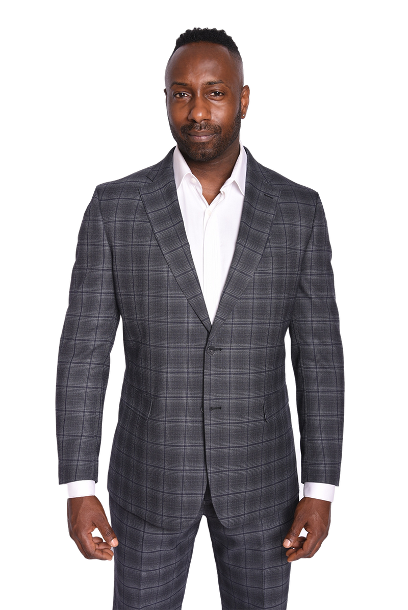 Steven Land | Terroni Suit | Ombre Grey Plaid