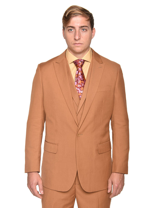 35% OFF | Steven Land | 3 Piece Wool Suit | Walter | Classic Fit | Autumn Rust