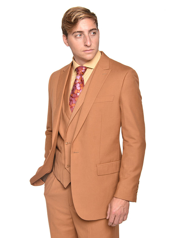 Steven Land | 3 Piece Wool Suit | Walter | Classic Fit | Autumn Rust
