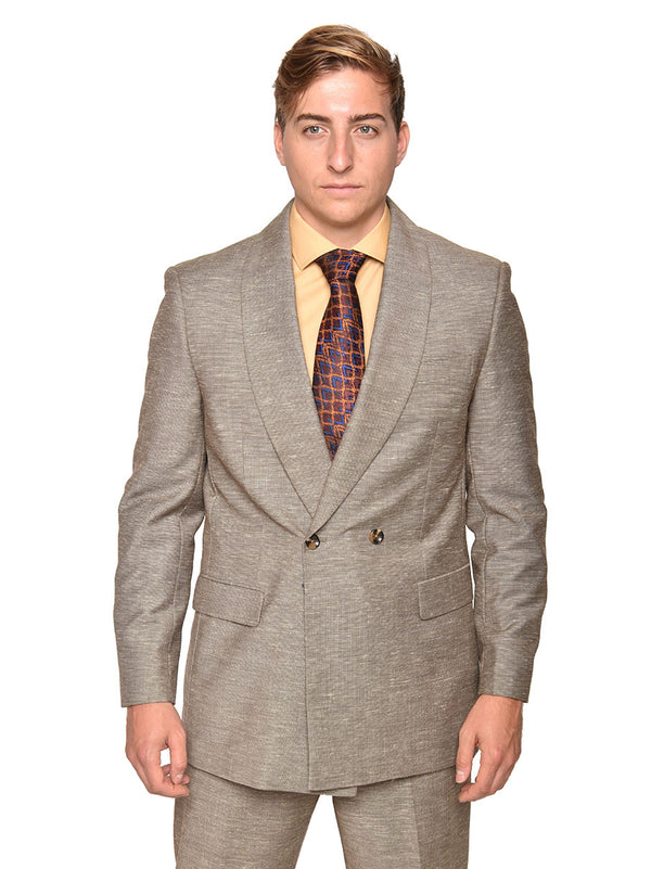 Steven Land | Double Breasted Franco Suit | Taupe