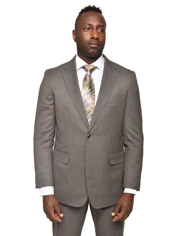 Steven Land | Enzo Wool Suit | Taupe Grey