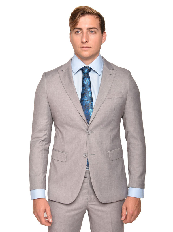 Steven Land | Dante Slim Fit Suit | Short and Tall Sizes | Light Grey