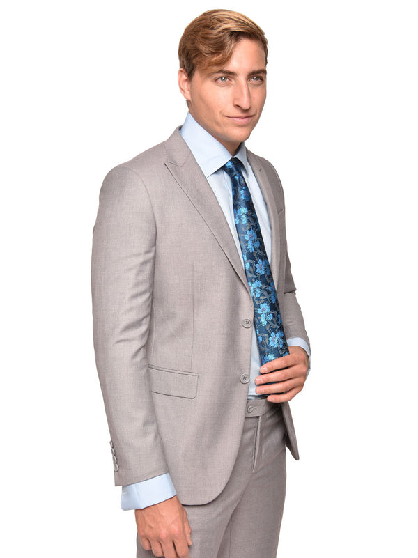 Steven Land | Dante Slim Fit Suit | Light Grey