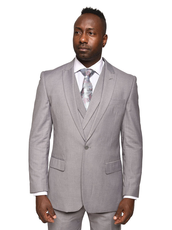 Steven Land | 3 Piece Wool Suit | Walter | Classic Fit | Light Grey