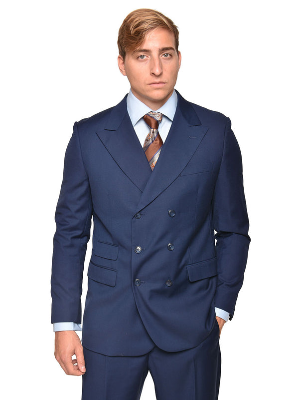 Steven Land | Frederico Double Breasted Suit | Navy