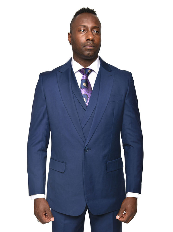 Steven Land | Walter 3 PC Suit | Cobalt Blue