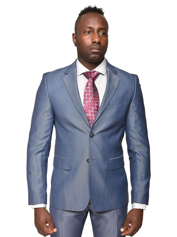 Steven Land | Pietro Suit | Blue Chrome