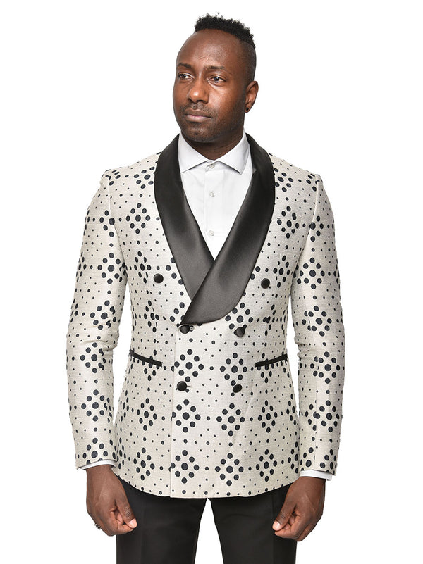 Steven Land | Bellino Double Breasted Tuxedo Jacket | Sand