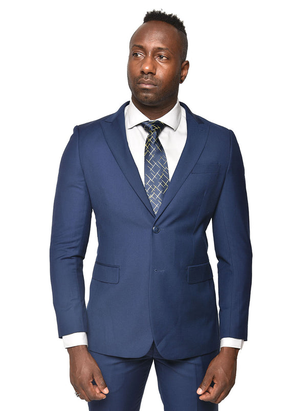 Steven Land | Dante Slim Fit Suit | Short and Tall Sizes | Cobalt Blue