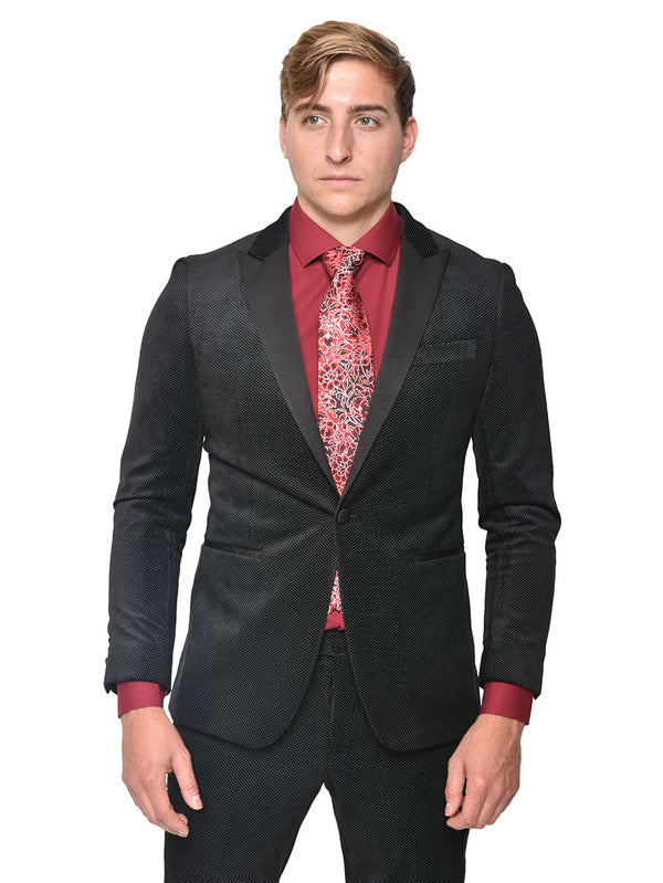 Steven Land | Black Velvet Diego Tuxedo | Slim 2 PC