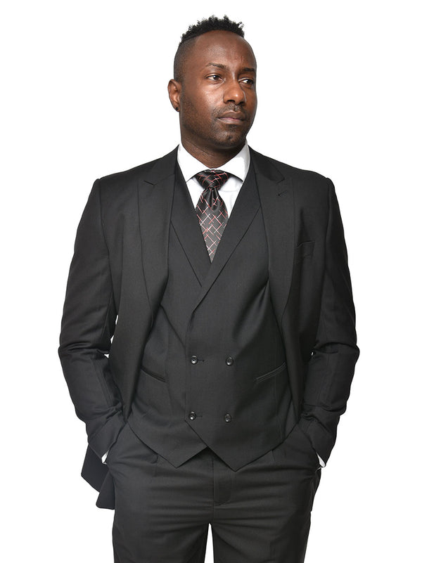 Steven Land | Walter 3 PC Suit | Black
