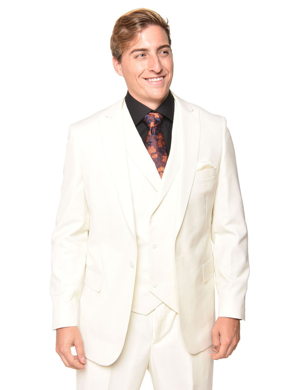 Steven Land | Walter 3 PC Suit | Cream