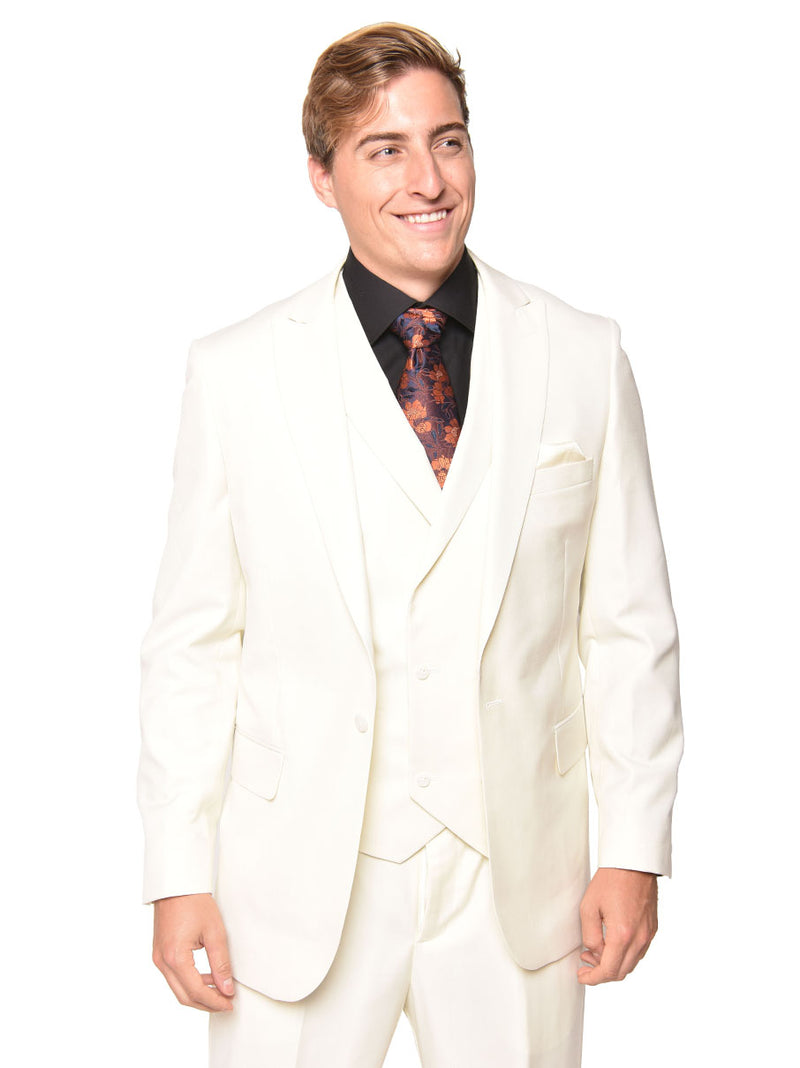 40% OFF | Steven Land | 3 Piece Suit | Walter | Classic Fit | Cream