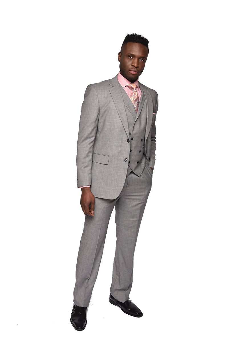 Steven Land | Morning Grey | 3 Piece Angelo Suit | Classic Fit | SL53