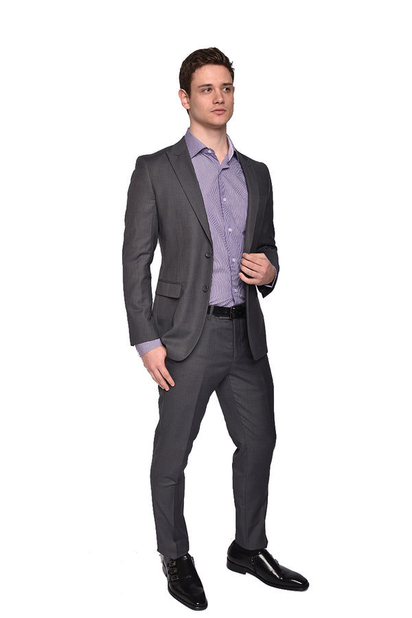 STEVEN LAND | The Bankers Suit | Solid Grey Dante | SL77-295