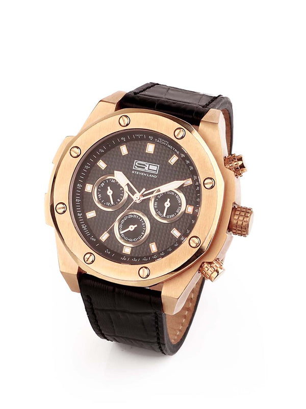 Steven Land Watch | Designer Edition | Royal Rose Gold Oak