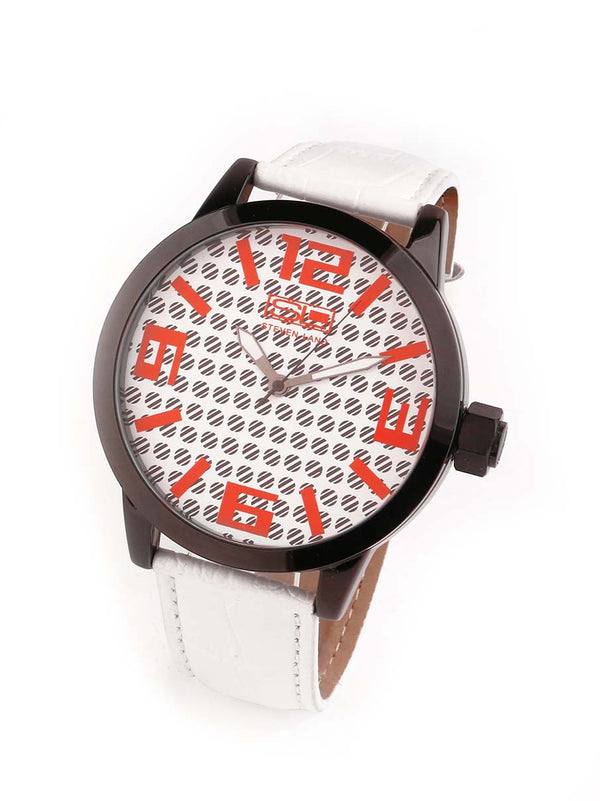 Steven Land Watch | Fashion Collection | White Leather Strap | San Diego