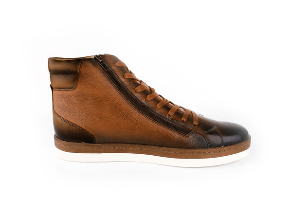 Steven Land Shoes | Lucas High Top Sneakers | Tan