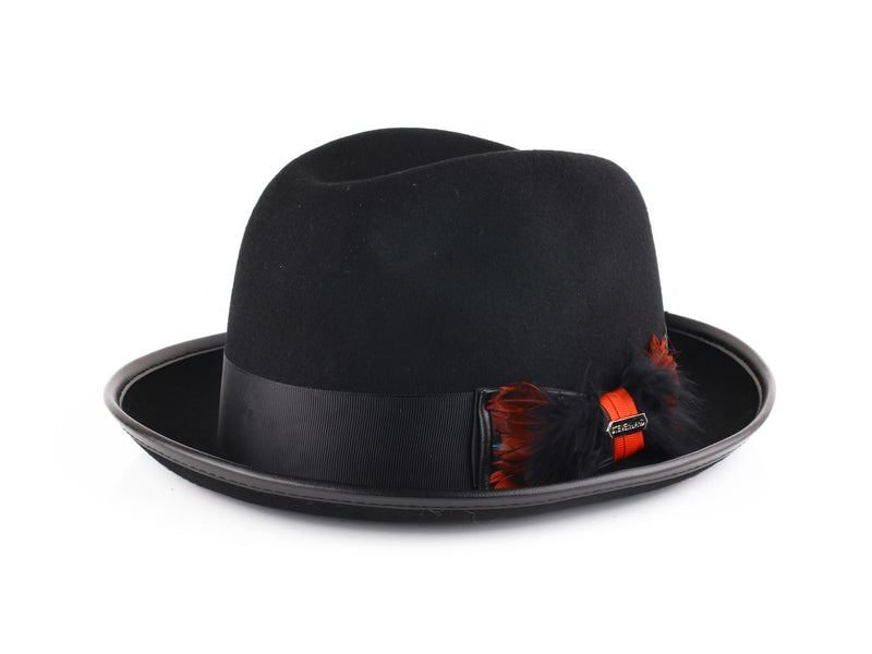Steven Land Hats | Octavius Collection | 100% Wool | Black & Red