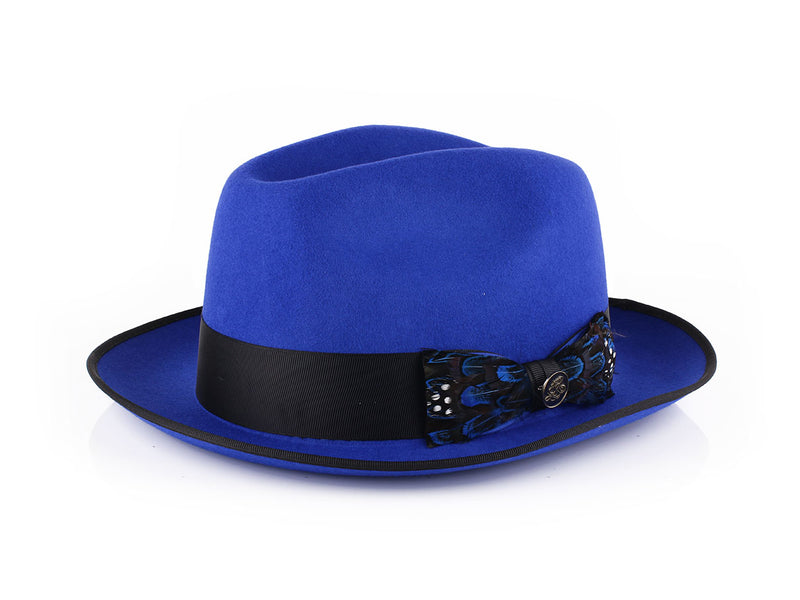 Steven Land Hats | Giuliano  Collection | 100% Wool | Royal Blue
