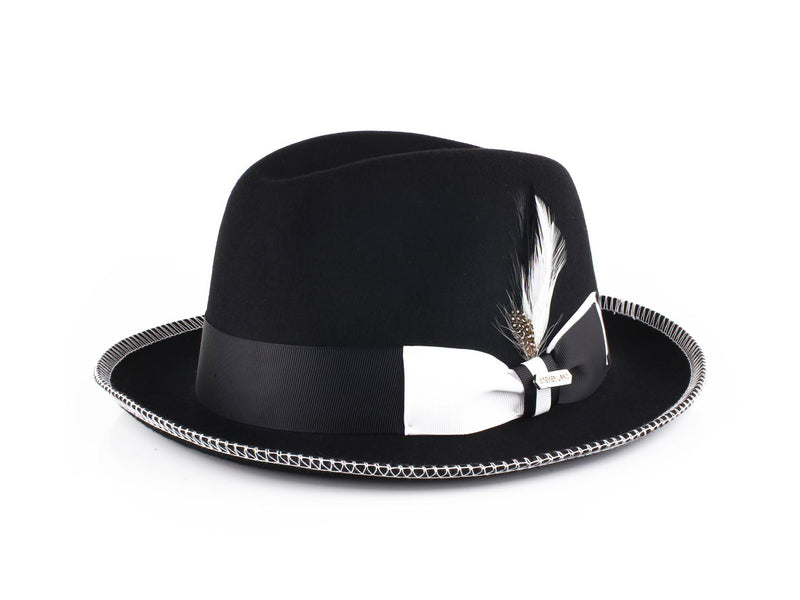 Steven Land Hats | Saverio Collection | Black/White