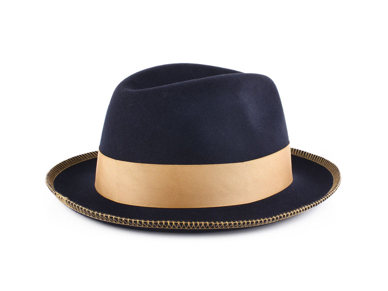 Steven Land Hats | Saverio Collection | Navy Blue/Camel
