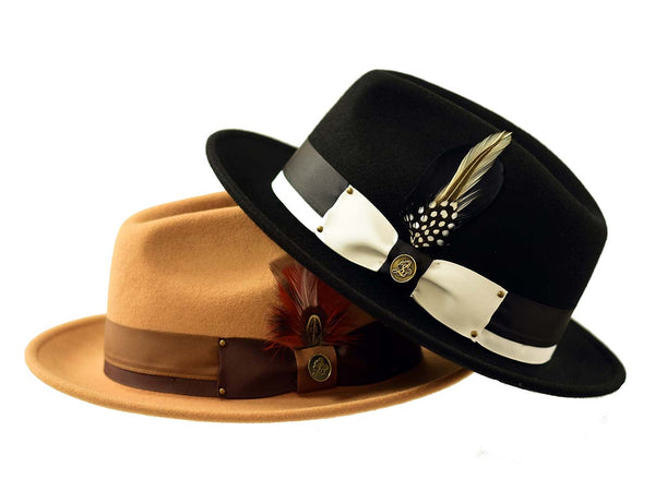 Steven Land Hats | Preston Collection | 100% Wool | Black