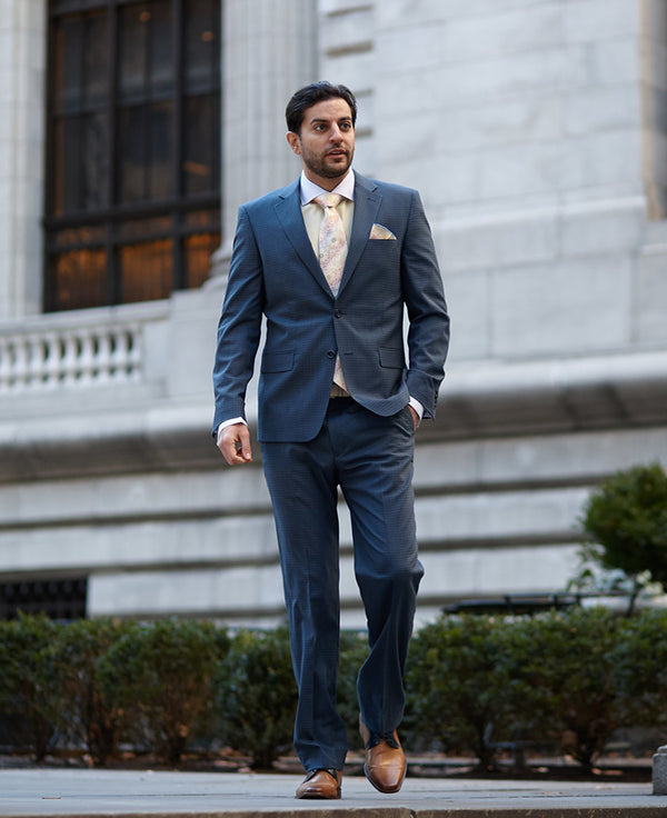 Steven Land | Charcoal Gingham Wool Pietro Suit