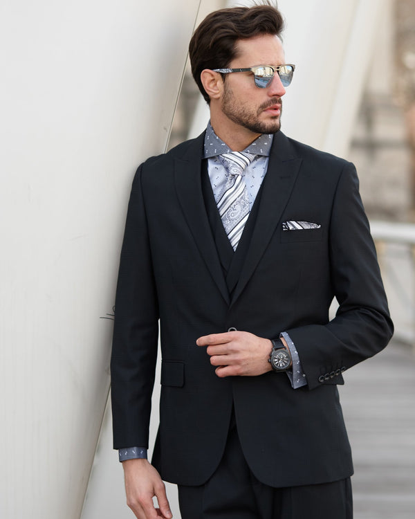 40% OFF | Steven Land | 3 Piece Suit | Walter | Classic Fit | Millionaire Black