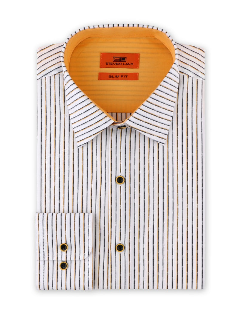 Dress Shirt | SB1934 | Slim Fit | Spread Collar | Barrel Button Cuff | Gold