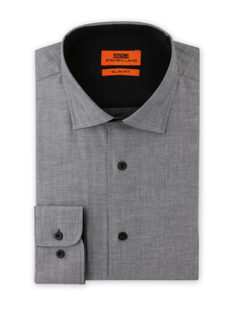 Dress Shirt | SB1942 | Slim Fit | Cotton blend | Spread Collar | Barrel Button Cuff | Black