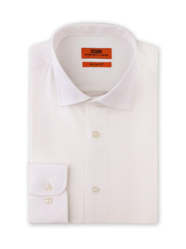 Egg Shell Dress Shirt | Slim Fit | Cotton blend | Spread Collar | Barrel Button Cuff |  SB1942